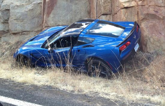 first_2014_chevrolet_corvette_stingray_c7_involved_in_one_car_accident_during_routine_testing_in_arizona_fyaac