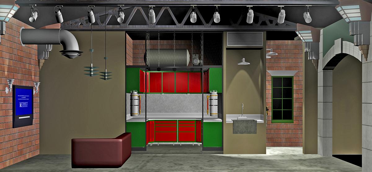 Industrial garage storage bins