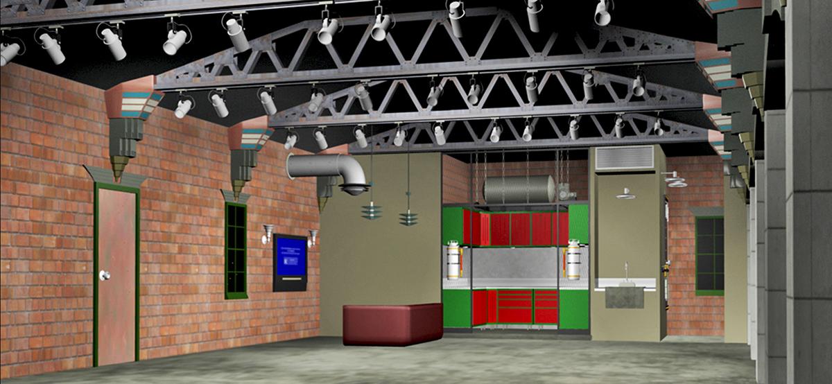 garage makeover ideas pictures - GarageMahals Retro Industrial Garage GarageMahals