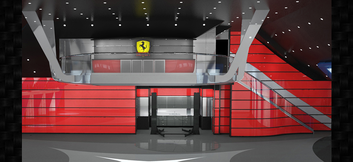 Decorating Garage Ferrari