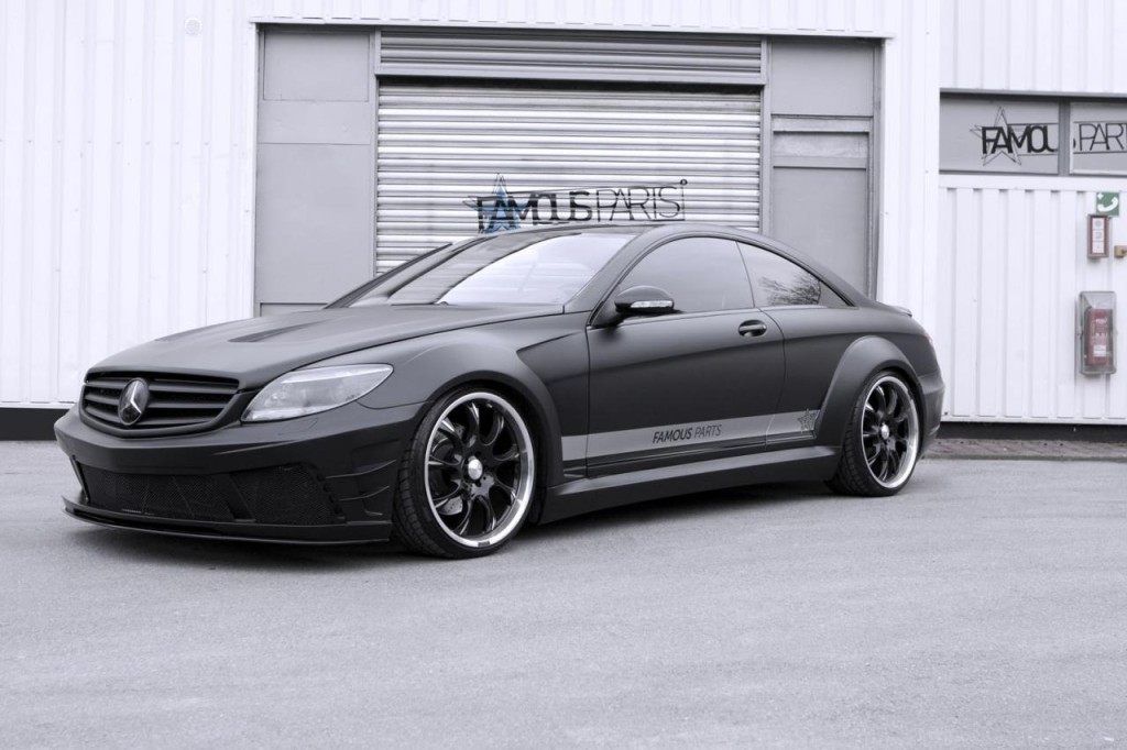 Gorgeous-Mercedes-CL-500-Black-Matte-Edition-by-Famous-Parts-1